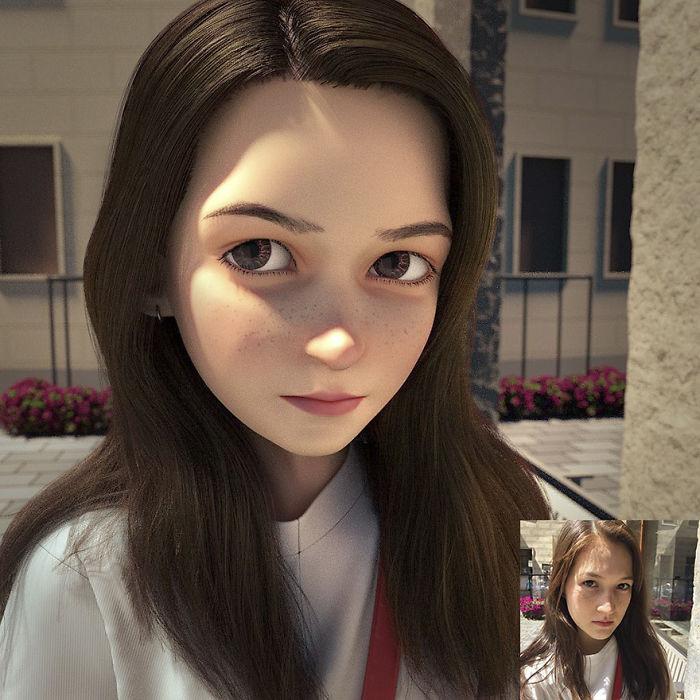 artista traforma ritratti in personaggi stile pixar 05
