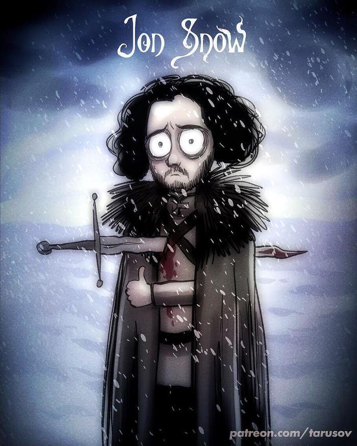 I personaggi di Game Of Thrones in versione cartoons