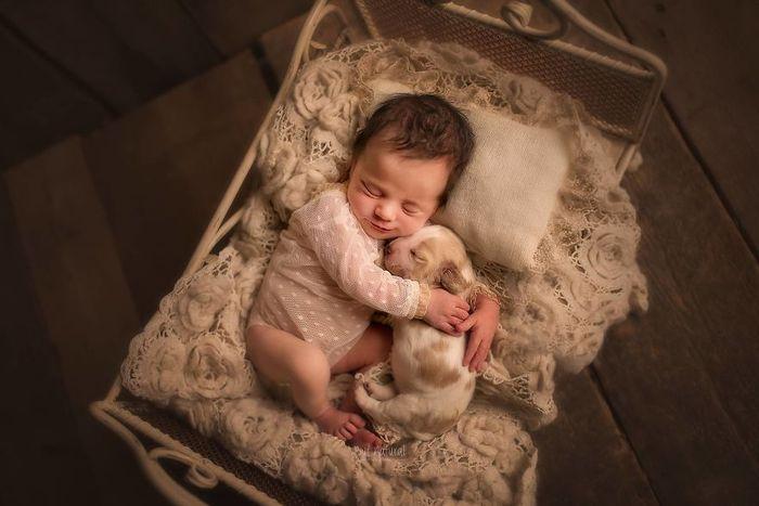 03 foto di neonati con animali