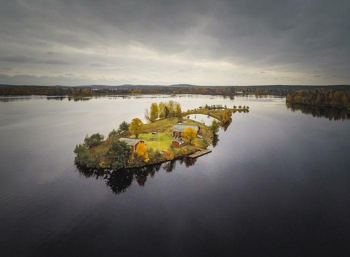 05 Incredibili foto aeree di unisola finlandese viste nel corso delle quattro stagioni