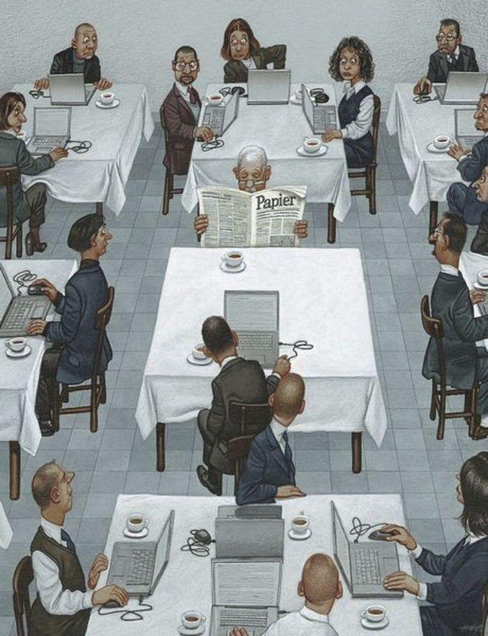 06 Illustrazioni satiriche di Gerhard Haderer