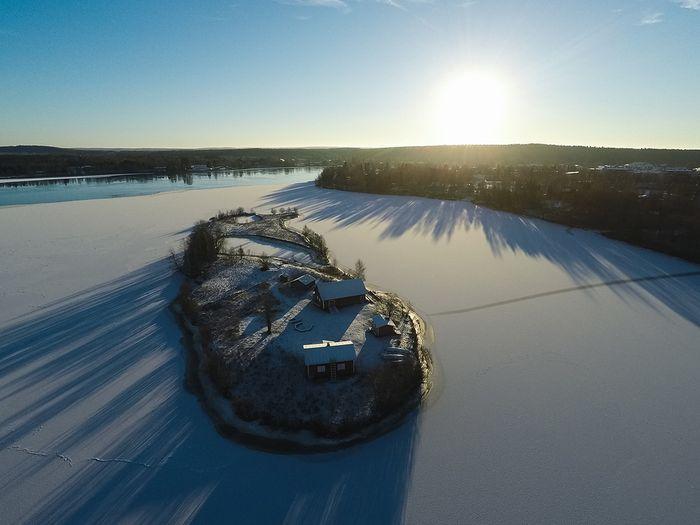 06 Incredibili foto aeree di unisola finlandese viste nel corso delle quattro stagioni