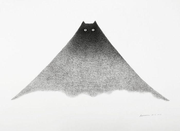 07 gatti disegnati con la china