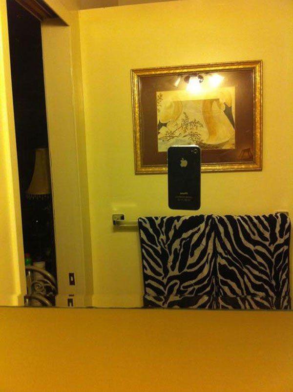 08 Immagini di persone che cercano di scattare foto di specchi che vogliono vendere online