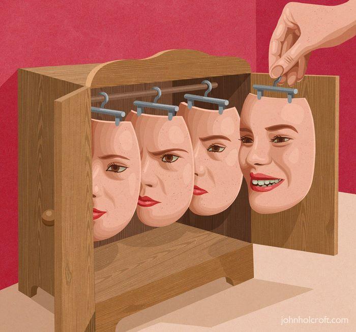 10 dieci illustrazioni brutalmente oneste sulla nostra società