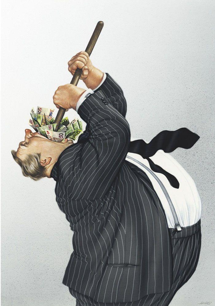 11 Illustrazioni satiriche di Gerhard Haderer