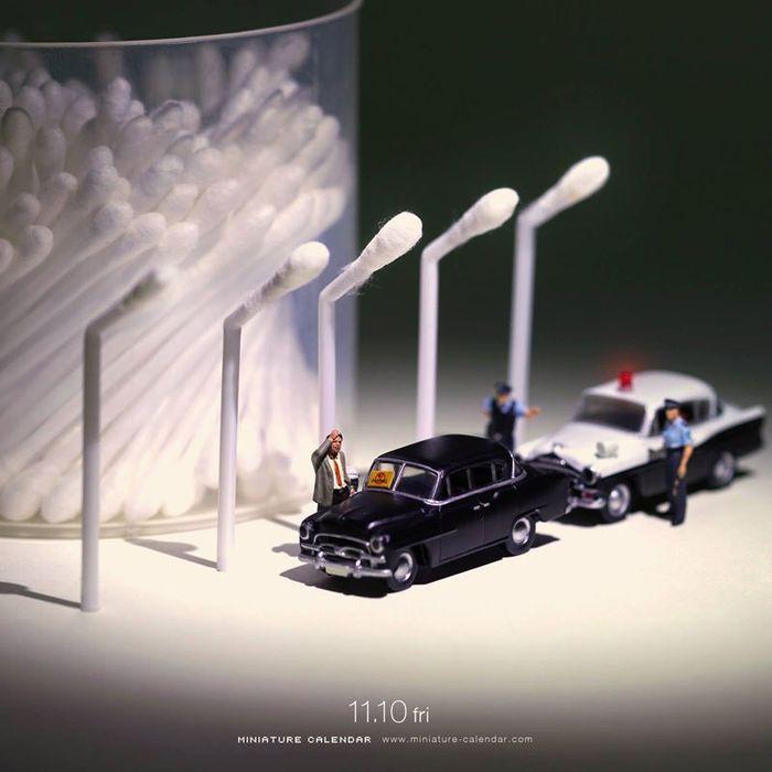 15 Questo artista dal 2011 ha creato una scena in miniatura ogni giorno