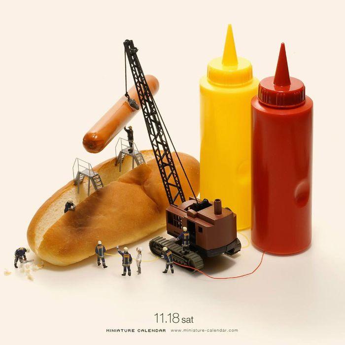 17 Questo artista dal 2011 ha creato una scena in miniatura ogni giorno