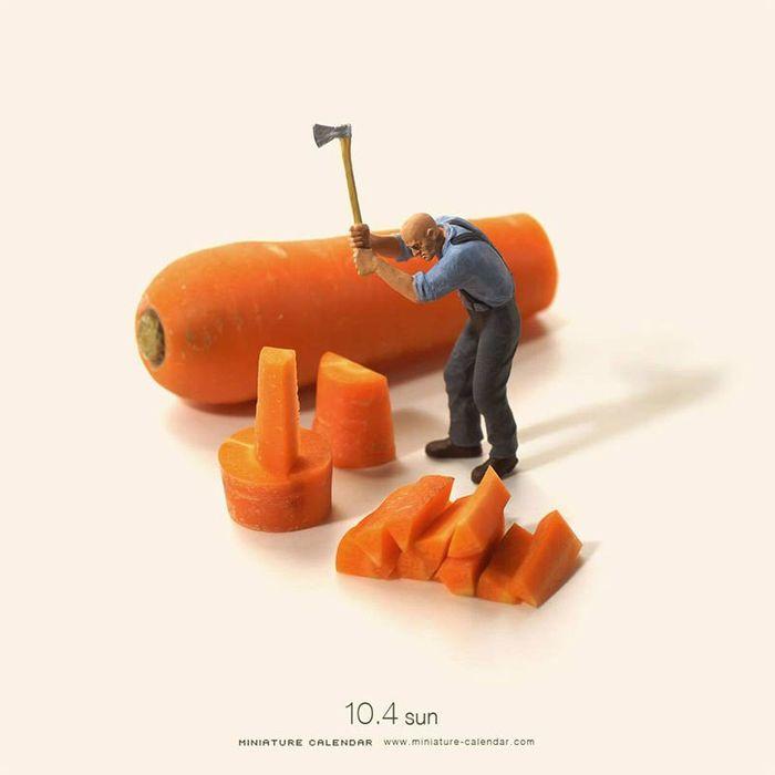 30 Questo artista dal 2011 ha creato una scena in miniatura ogni giorno