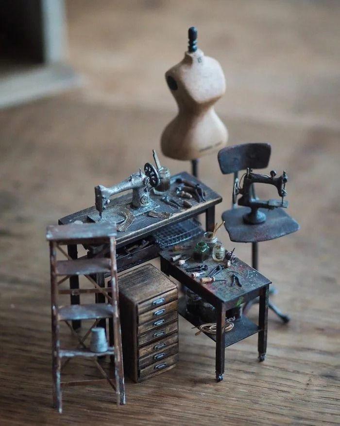 01 case di bambole in miniatura