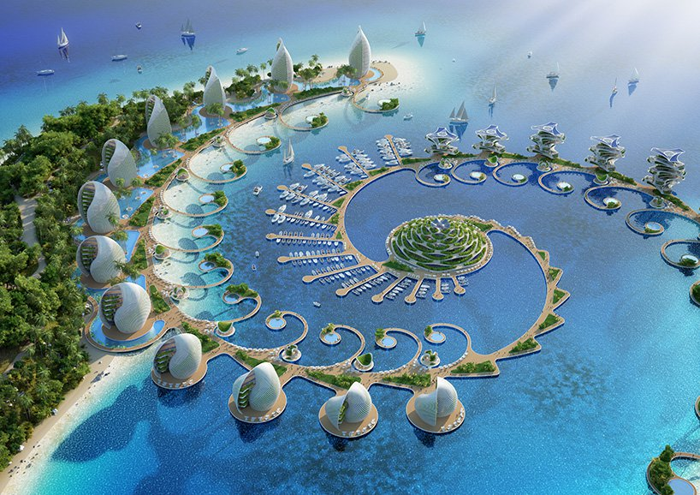 01 eco resort a forma di spirale