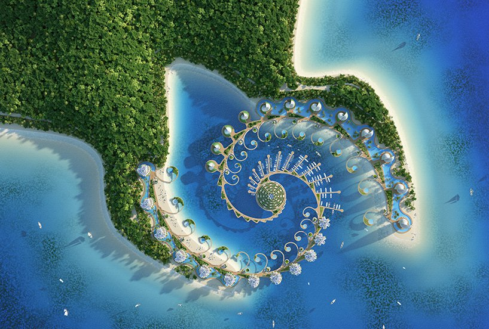 02 eco resort a forma di spirale