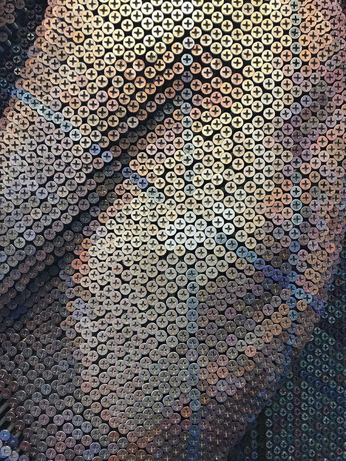 03 Questo Impressionante ritratto è composto da 20.000 viti