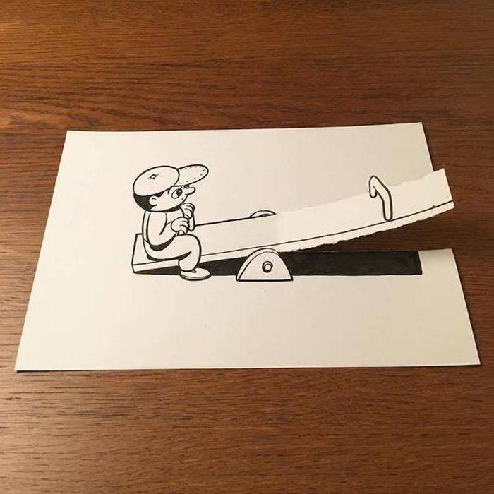 04 Disegni tridimensionali da un foglio di carta