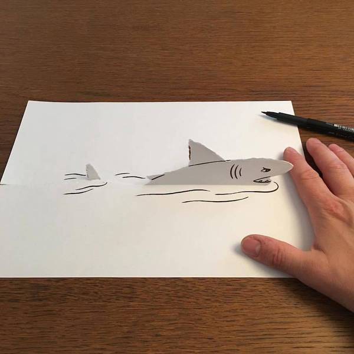 06 Disegni tridimensionali da un foglio di carta