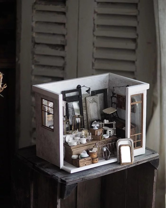 06 case di bambole in miniatura