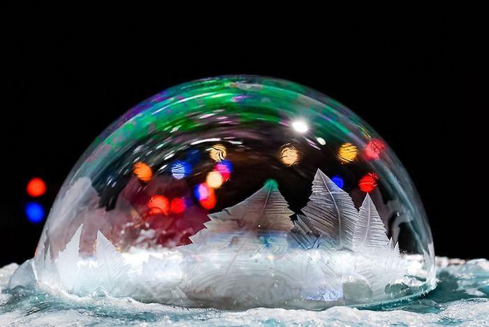 06 cristalli di ghiaccio dentro bolle di sapone