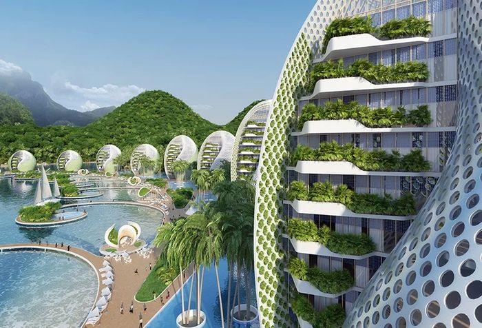 06 eco resort a forma di spirale