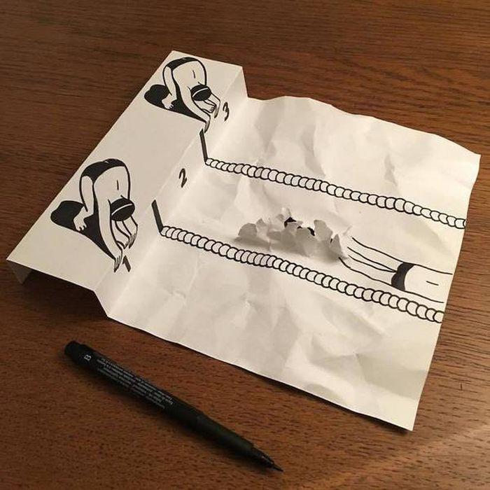 07 Disegni tridimensionali da un foglio di carta