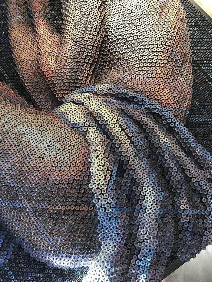 07 Questo Impressionante ritratto è composto da 20.000 viti