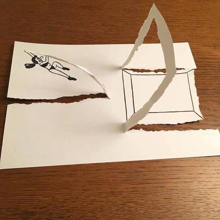 08 Disegni tridimensionali da un foglio di carta