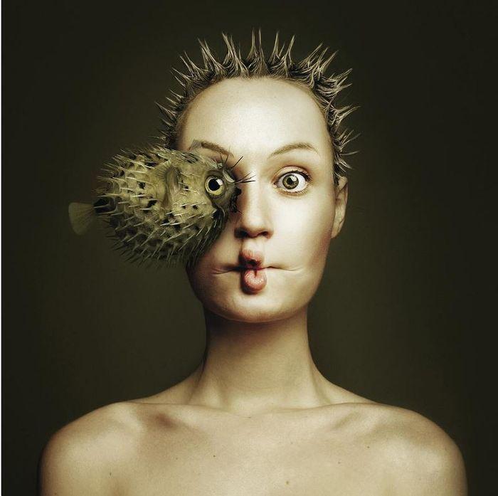 08 volti umani e di animali nelle foto di Flora Borsi