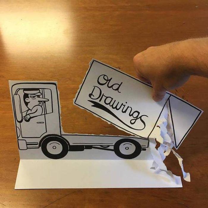 09 Disegni tridimensionali da un foglio di carta