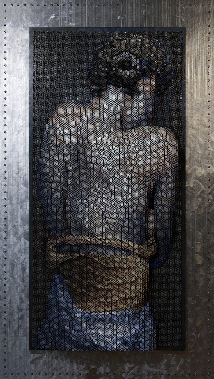 10 Questo Impressionante ritratto è composto da 20.000 viti