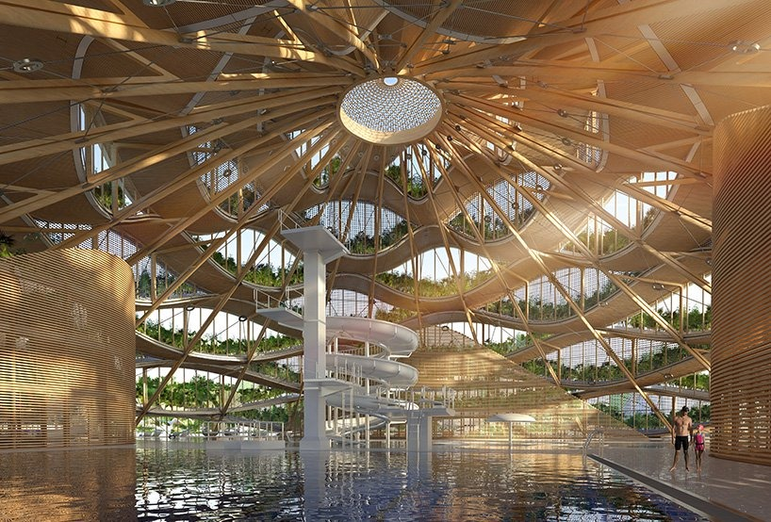 10 eco resort a forma di spirale