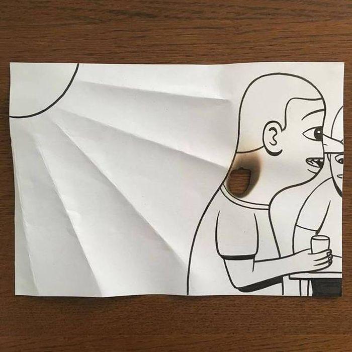 17 Disegni tridimensionali da un foglio di carta