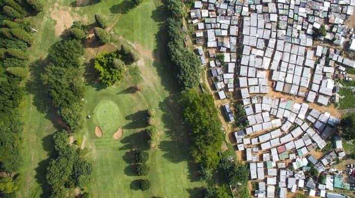 Le disuguaglianze sociali nell'obiettivo di un drone