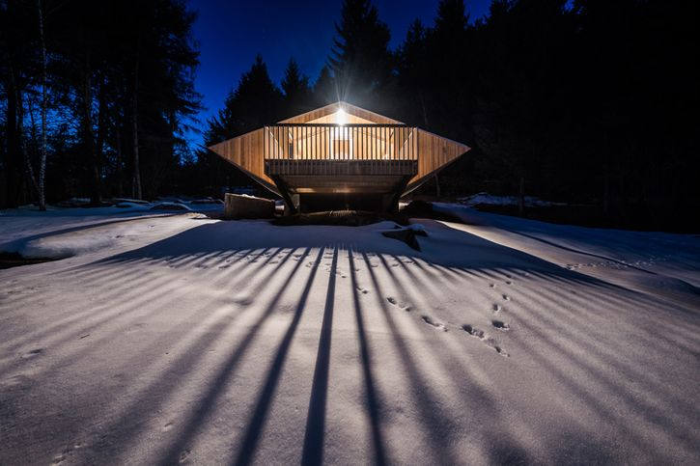 Si trova in Trentino uno chalet dalla forma piuttosto strana e non a caso chiamato UFO
