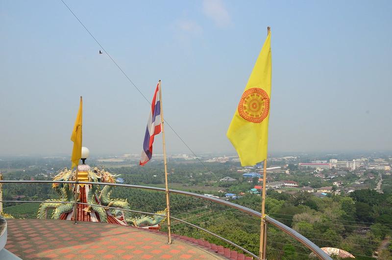 Vista dall'alto di Wat Samphran