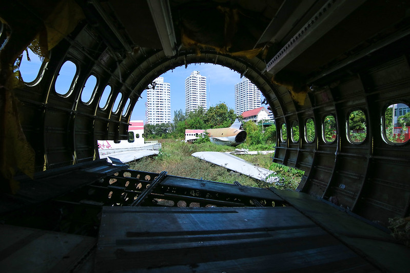 Cimitero degli aerei Bangkok un interno. Un'altra meta poco conosciute in Thailandia