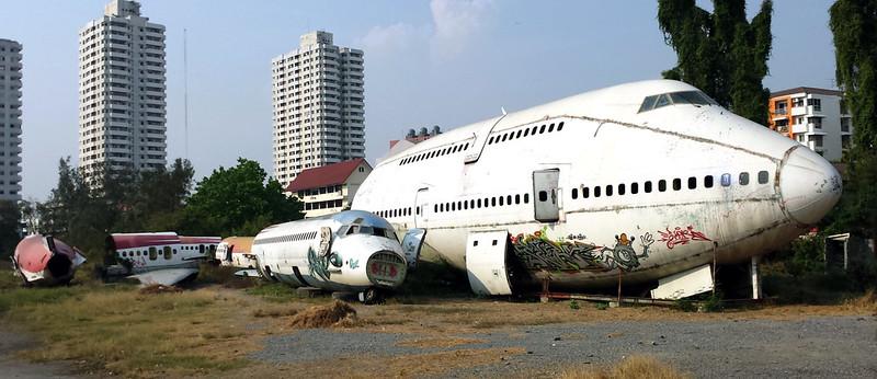 Cimitero degli aerei Bangkok. Un'altra meta insolita della Thailandia
