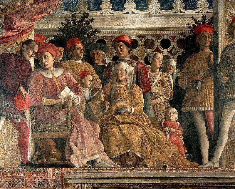01 Rappresentazione del cane lagotto in quadro del Mantegna