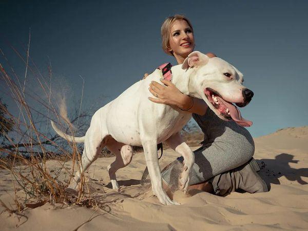 Cane con ragazza